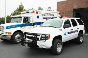 Ambulance and Truck